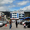 otavalo Market<br /> <br /> the street bordering the market square.