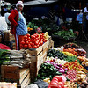Otavalo Market<br /> <br /> Green onions, tomatoes, green bell peppers, onions, red chilis, string beans, yellow bell peppers, sun dried chilis, carrots, and potatoes.