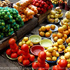 Otavalo Market<br /> <br /> Limes, oranges, tomatoes, melons,and sweet potatoes.