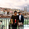This is at the roof top dining terrace of Cafe Mirador. This view shows the Basilica beyond on the right hand side.
