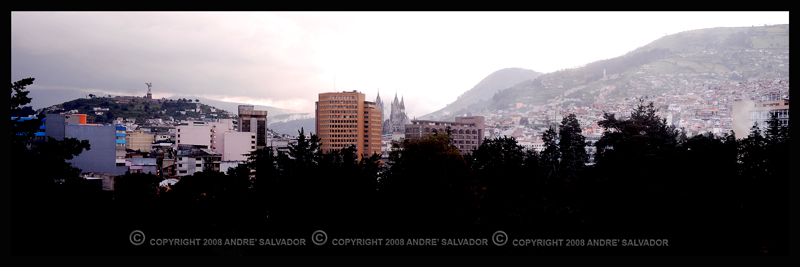 A panoraamic view of Quito.