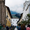 This is the street on the right side of La Compania Church.