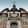 La Compania Church<br /> <br /> The top of the facade's center part above the entrance.