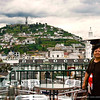 Taken at the rooftop dining terrace in Quito where there is a 180 degree view of the city. This part has the view of the Winged Virgin Monument on top of the hill.