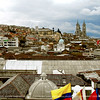 A view of the Basilica and part of the city of Quito from our dining room at the roof top of Cafe Mirador.