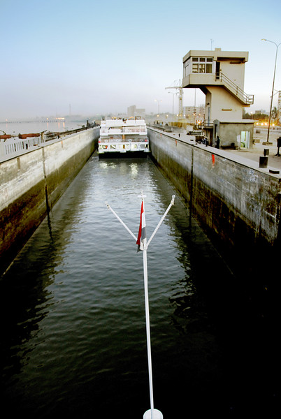 Our ship is now inside the lock.