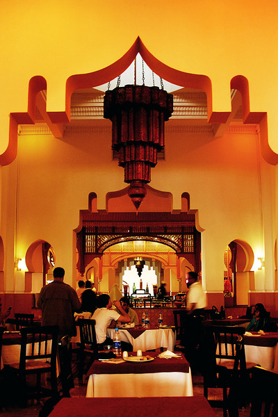 This is a view of one of the restaurant at Four Seasons Hotel at Naama Bay in Sharm El Sheikh.