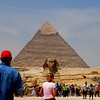 Other tourist are too excited they have to run in order to get closer to the sphinx.