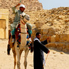 Camel drivers have their own rowdy ways of shouting and attracting tourist.