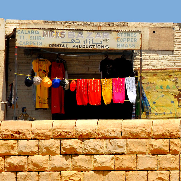 Photo of one of the stores across the Giza Pyramid area.