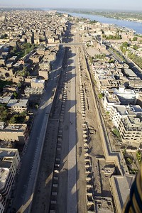 20100803 0722 Balloon view of Luxor Temple, Luxor, Egypt _MG_2843