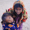 Charming beggars, Hampi, Hospet, Karnataka, India