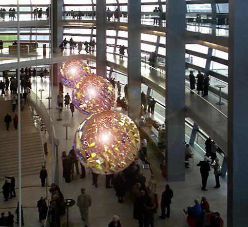 The foyer, The new Operahouse at Holmen, Copenhagen, Denmark.