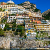 Positano, Italy <br /> View as we approached by boat