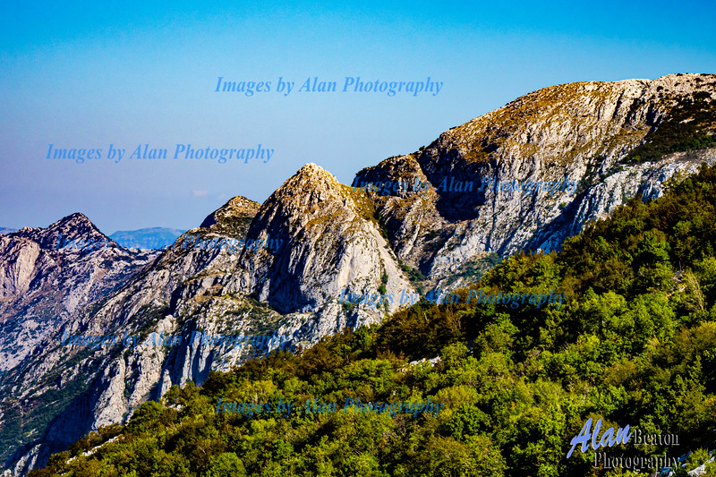 Montenegro - Karst formations on the Road to Niegusi
