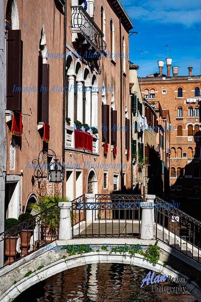Venice - Attractive Bridge, Narrow Canal