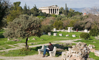 Relaxing in the Ancient Agora