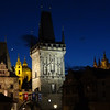 View of Charles bridge tower, St. Michaels, and castle