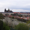 View of Prague castle from restaurant
