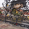 People touch the statue for good luck.  Lovers put locks on public places to declare their everlasting love.