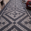 Besides the traditional cobblestone streets there were many decorative sidewalks
