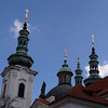 Prague, the town of spires.  These spires were on a monastery on the hill overlooking Prague where we had lunch.