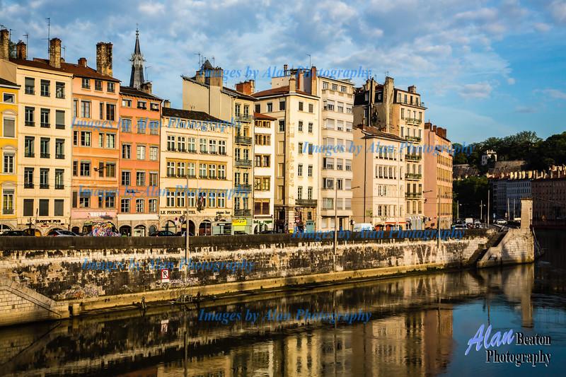 Reflections on the Saone at Lyon