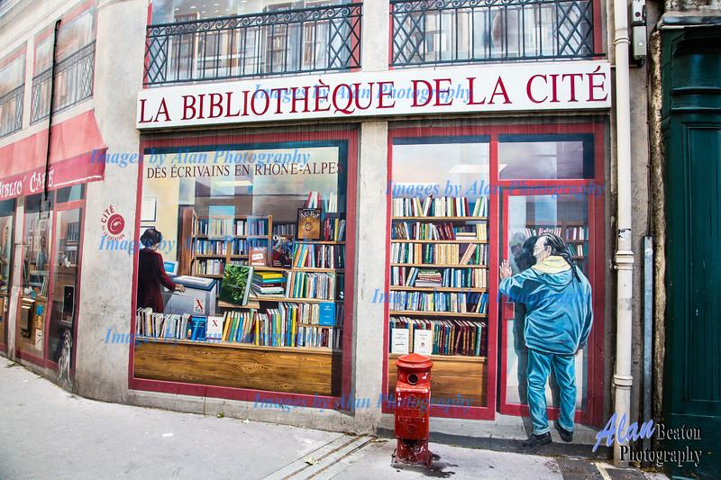 Mur peint Biblioteque de la Cite, Presquile, Lyon