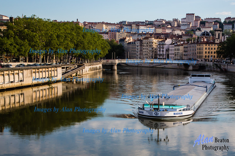 River barge on the Saone at Lyon