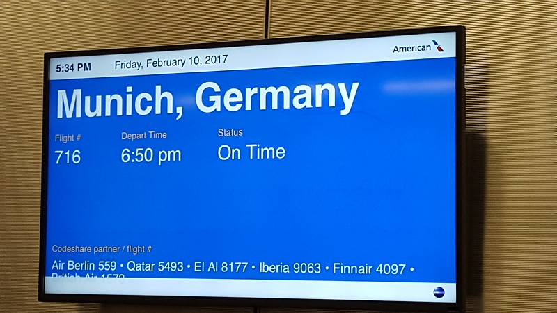 flying from Philadelphia to Munich
