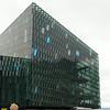 The very beautiful performing arts building in downtown Reykjaivik.