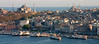 Istanbul from Galata Tower with Hagia Sophia and Sultanahmed Mosque