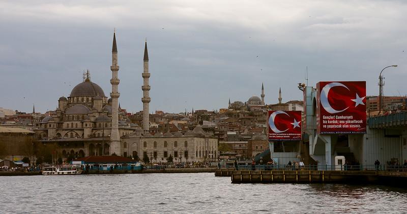 Istanbul panorama with Galata Bridge