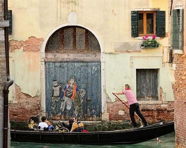 Canal Scene with Gondola