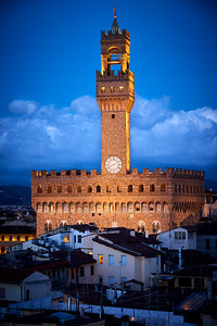 Palazzo Vecchio at twilight