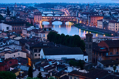 Florence -- city scene at dawn - M