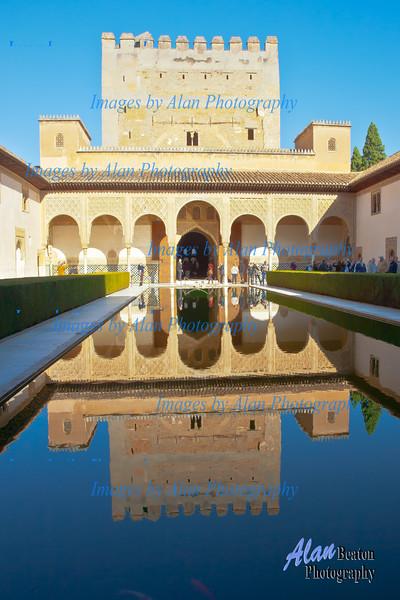 Reflecting pool, Alhambra, Granada