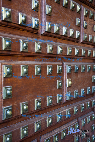 Palacio Carlos V Door, Alhambra, Gran ada