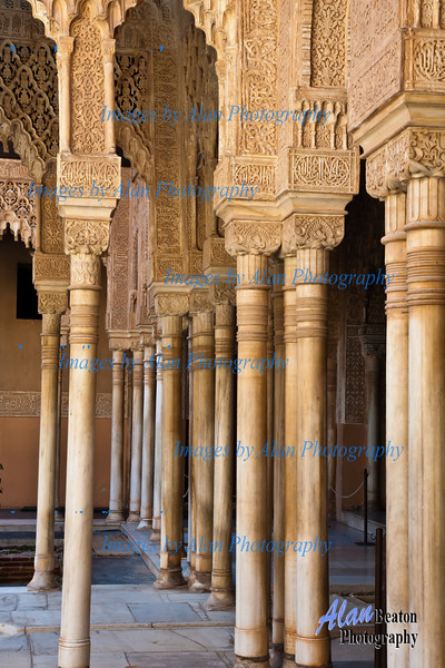 Courtyard of the Lions, Alhambra, Granada