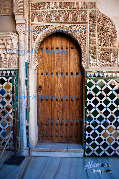 Decorative Doorway, Alhambra, Granada