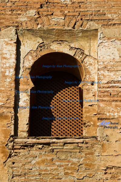 Rtecessed window, Tower of Justice, Alhambra, Granada