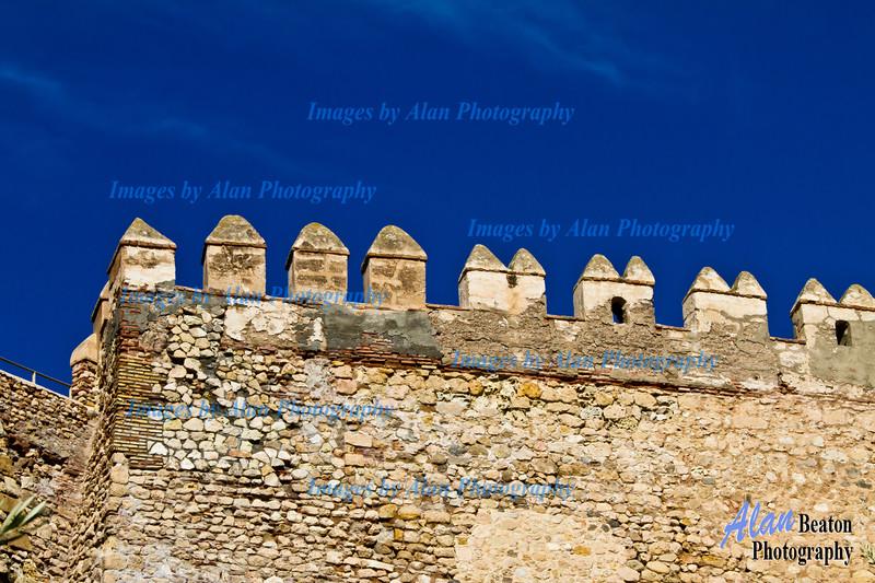 Fortified wall of La Alcazaba, A,meria