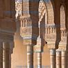 Decorated pillars, Alhambra, Granada