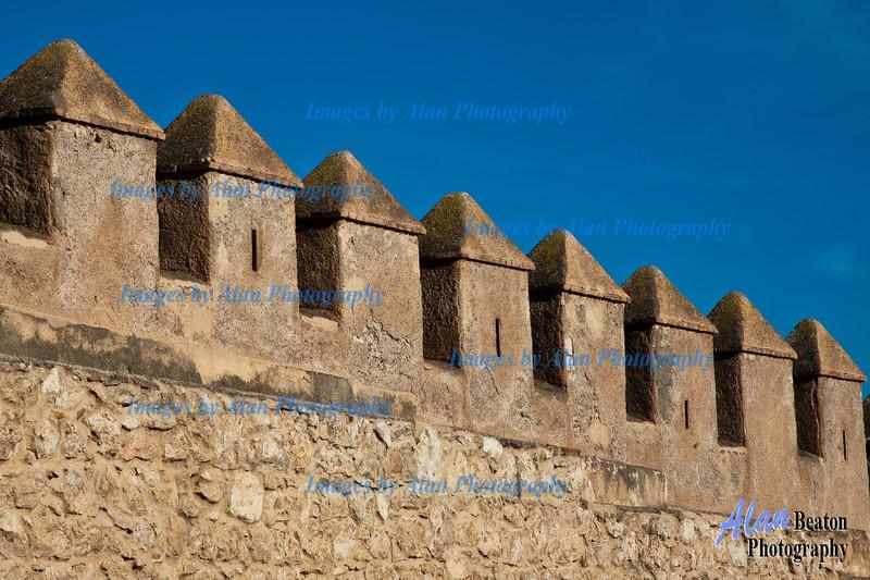 Turreted walls  of La Alcazaba, Almeria