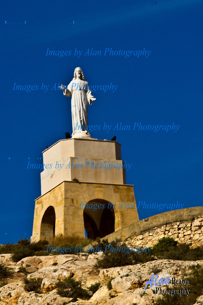 Monument to the sacred heart of Jesus,, Almeria
