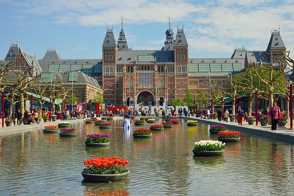 Amsterdam, Rijksmuseum in April