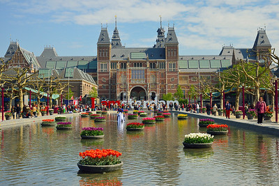 Amsterdam, Rijksmuseum in April