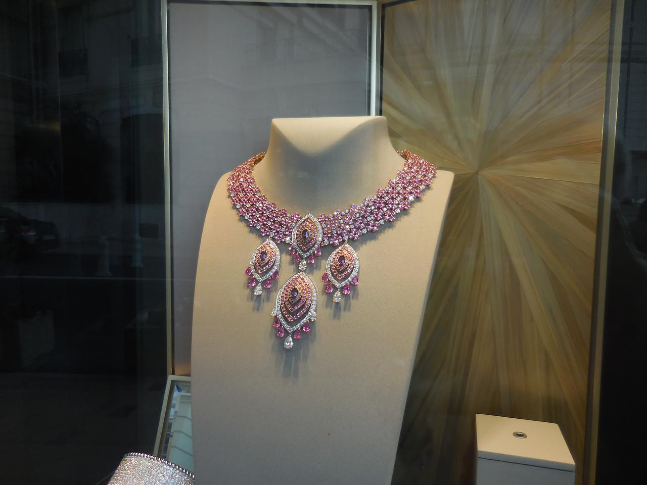 Spectacular necklace near casino