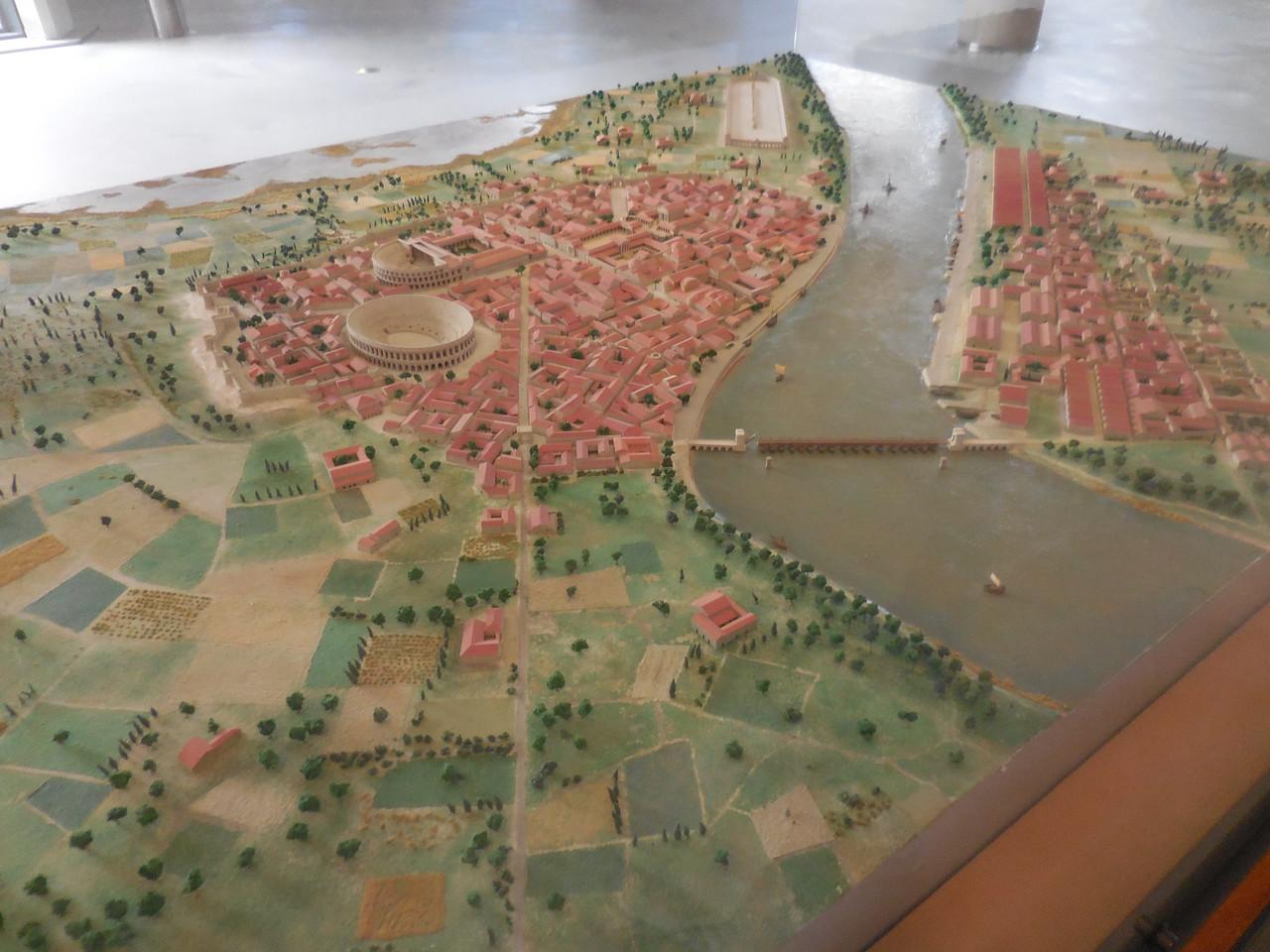 Three dimensional map of ancient Arles