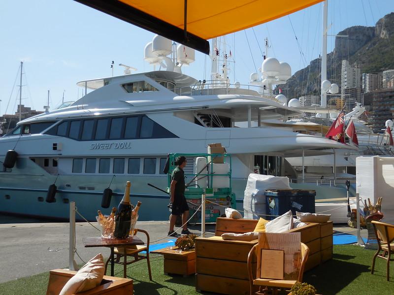 Yacht in Monaco harbor